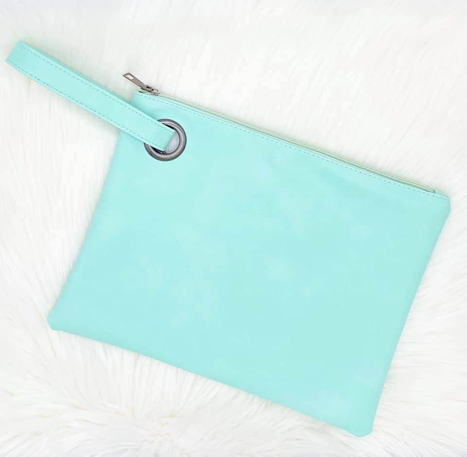 The Harper Clutch - Mint
