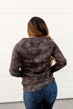 Load image into Gallery viewer, Ampersand Avenue Side Zip Pullover Charcoal Tie Dye