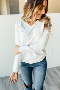 Ampersand Avenue All the Feels Ivory Sweater