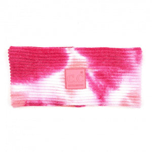CC Tie Dye Head Wrap with Rubber Patch - Fuchsia/Pink