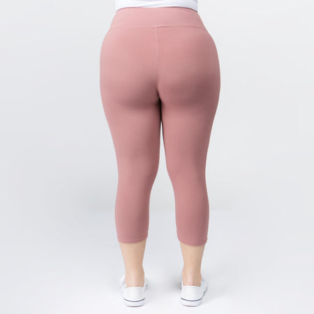 Capri Leggings - Mauve