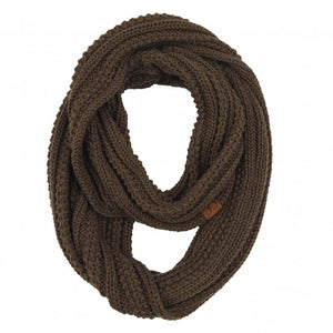 CC Ribbed Solid Infinity Scarf - New Olive