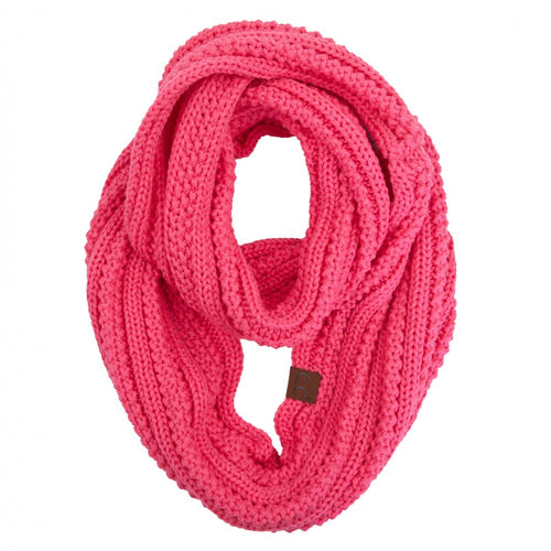 CC Ribbed Solid Infinity Scarf - New Candy Pink