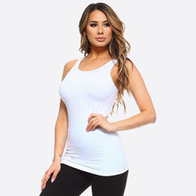 Load image into Gallery viewer, Seamless Tank - White
