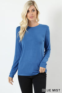 Favorite Long Sleeve Fitted Tee - Blue Mist