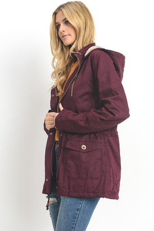 On Point Anorak Jacket - Mulberry