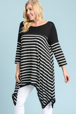 Handkerchief Please Tunic - Curvy Exclusive