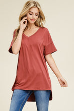 Load image into Gallery viewer, Hi-Lo Vneck Tee