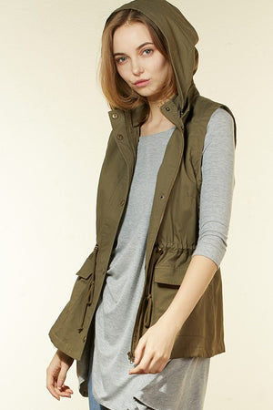 Anorak Military Hooded Vest - Curvy