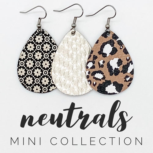 Black/Tan Leopard Itty Bitty - Neutral Mini Collection