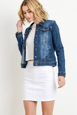Ready For Anything Jean Jacket - Dark Wash