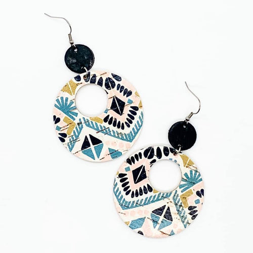 Spring Aztec Double O Piggyback Earrings