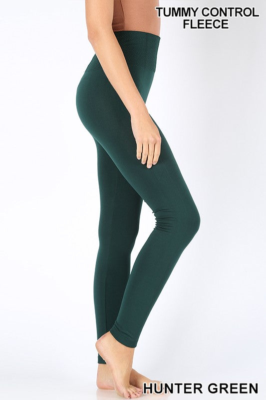 So Soft Fleece Lined Legging - Hunter Green