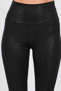 Too Hot To Trot Textured Faux Leather Leggings