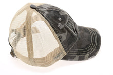 Load image into Gallery viewer, CC Brand - Distressed American Flag Classic Ball Cap - Olive Camo