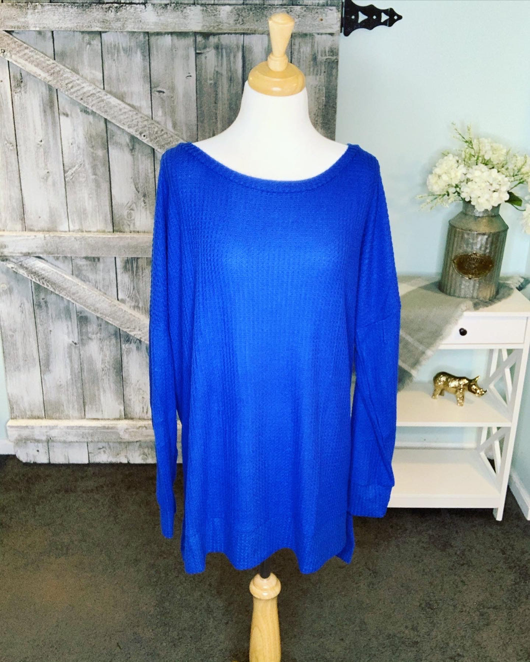 Keep it Casual Thermal - Royal Blue - Curvy