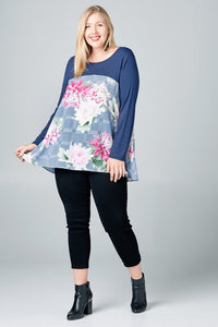 Let's Swing About It Top - Navy - Curvy Exclusive
