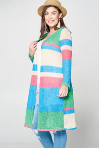 Life's a Party Striped Cardi