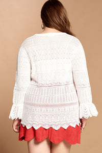 Better Together Lace Detail Sweater - Ivory