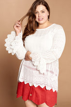 Load image into Gallery viewer, Better Together Lace Detail Sweater - Ivory