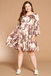 Radiant Beauty Paisley Dress