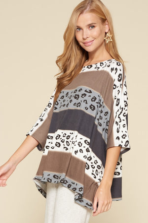 Give It A Go Boxy Top - Charcoal