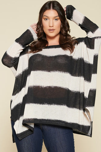 Excited to See You Poncho Top - Black