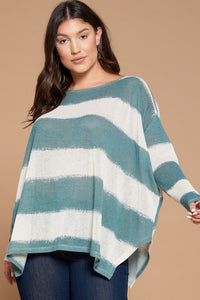 Excited to See You Poncho Top - Teal