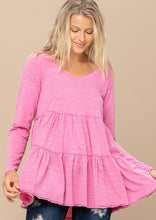 Load image into Gallery viewer, Forever Isn't Enough Tiered Tunic - Fuchsia