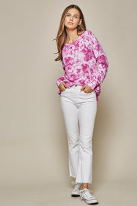Lovely Afternoon Tie Dye Pullover - Magenta