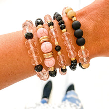 Load image into Gallery viewer, Pink Turquoise Bracelet Stack