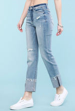 Load image into Gallery viewer, Judy Blue Wide Cuff Relaxed Light Wash Jeans