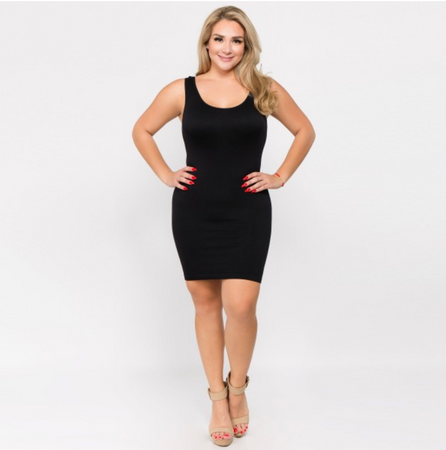 Seamless Slip Dress - Black