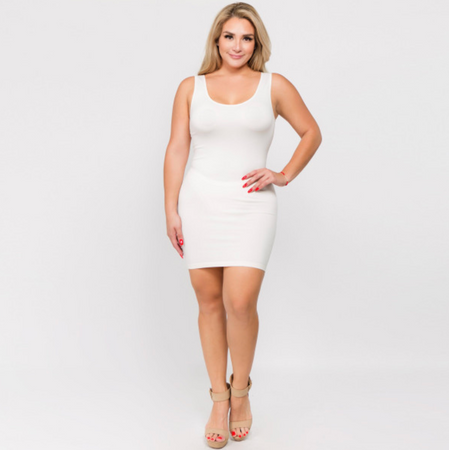 Seamless Slip Dress - White