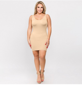 Seamless Slip Dress - Stone