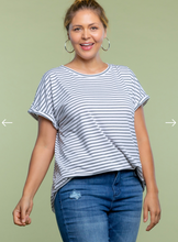 Load image into Gallery viewer, Hold You Dear Zipper Back Tee - Charcoal - Curvy