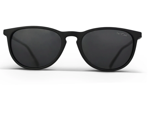 FarOut Sunglasses - Black Polarized Rounder Black Lens