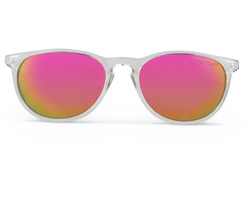 FarOut Sunglasses - Clear Polarized Rounders Pink Lens
