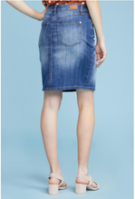 Load image into Gallery viewer, Judy Blue Denim Front Slit Pencil Skirt
