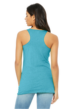Load image into Gallery viewer, Bella Canvas Women's Racerback Tank - Aqua Triblend