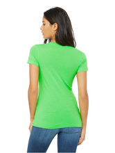 Load image into Gallery viewer, Bella Canvas Women's Vneck Tee - Neon Green