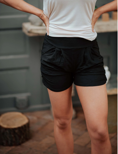 Blissfully Yours Harem Shorts - Black