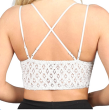 Load image into Gallery viewer, This is Love Lace Bralette - White