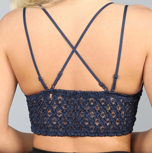 This is Love Lace Bralette - Navy