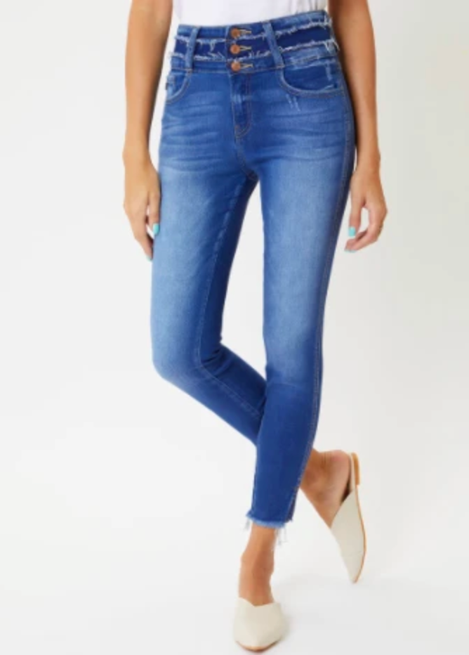 KanCan Double Waist Ankle Skinnies