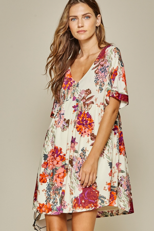 A Lucky Day Floral Dress