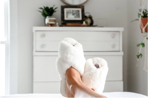 Don't Miss A Beat Slippers - Winter White
