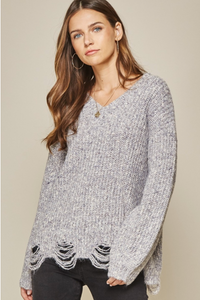 Keep On Smiling Sweater - Purple