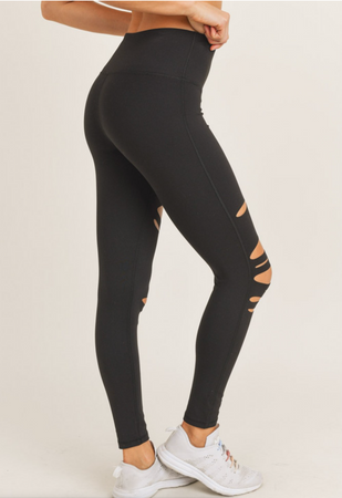 Laser Cut Tummy Control Leggings