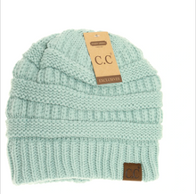 Load image into Gallery viewer, CC Classic Fuzzy Lined Beanie - Mint